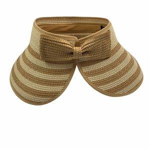 Magid Hats Paper Straw Roll Up Sun Visor Bow Hat